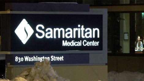 Samaritan sign Caption