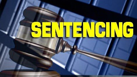 Gavel jail sentencing Caption
