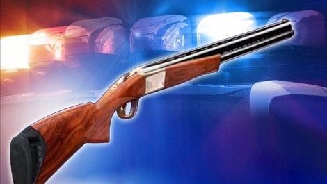 Police gun shotgun arrest Caption