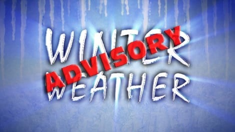 Winter weather advisory for region: Snow expected tonight and Tuesday