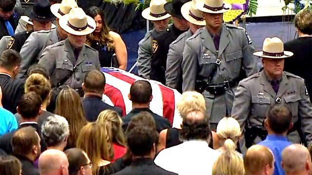 Photos, videos of funeral ceremony for NYS Trooper Joel Davis