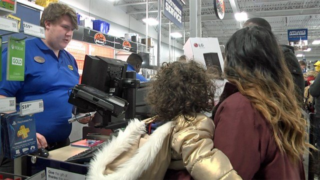 Hundreds of Black Friday shoppers hit the stores