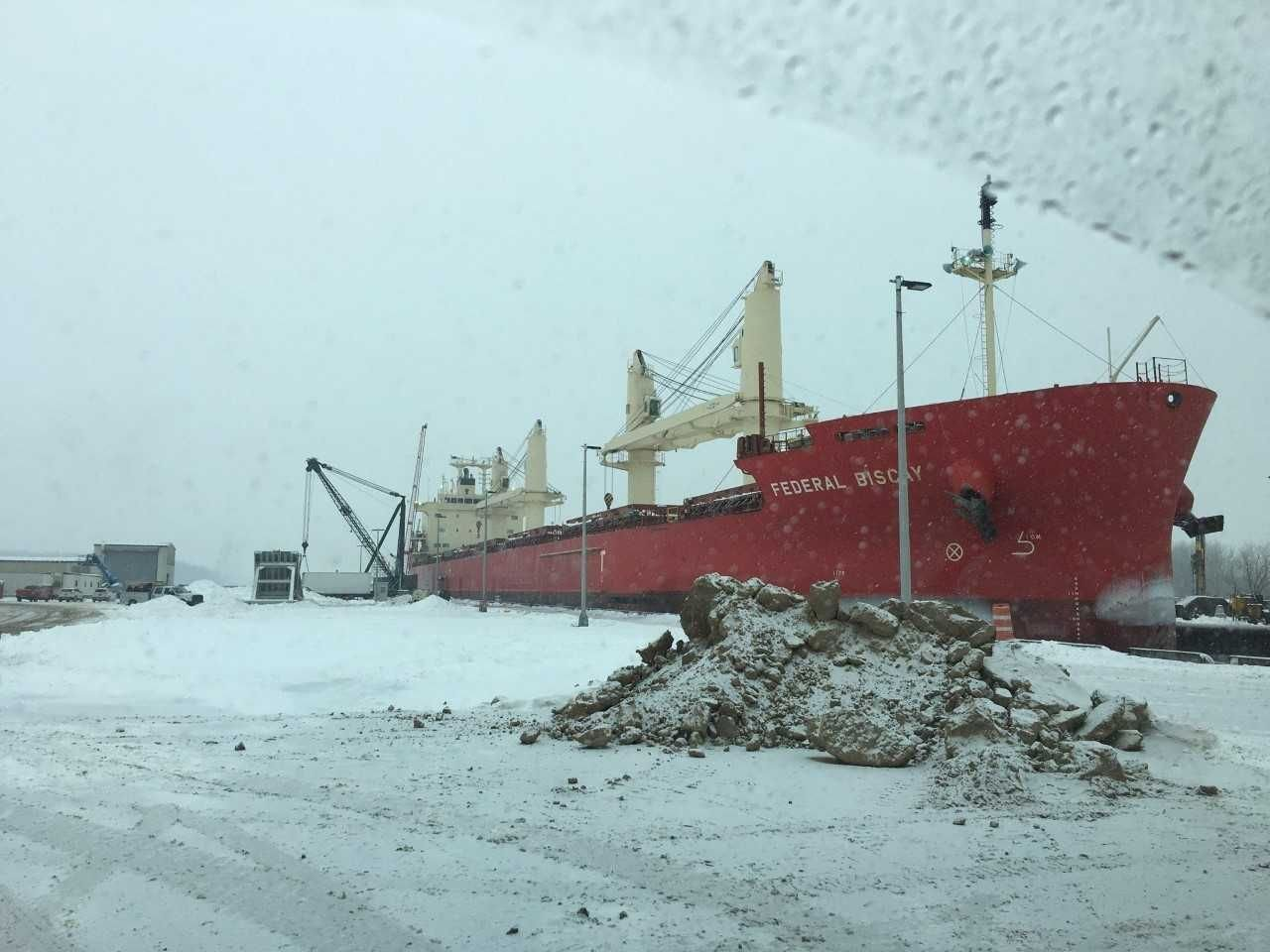 Ship Jammed in Icy Seaway