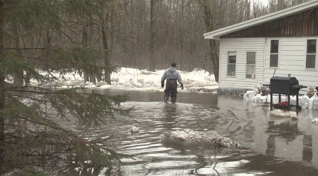 Ice jams could cause flooding along rivers