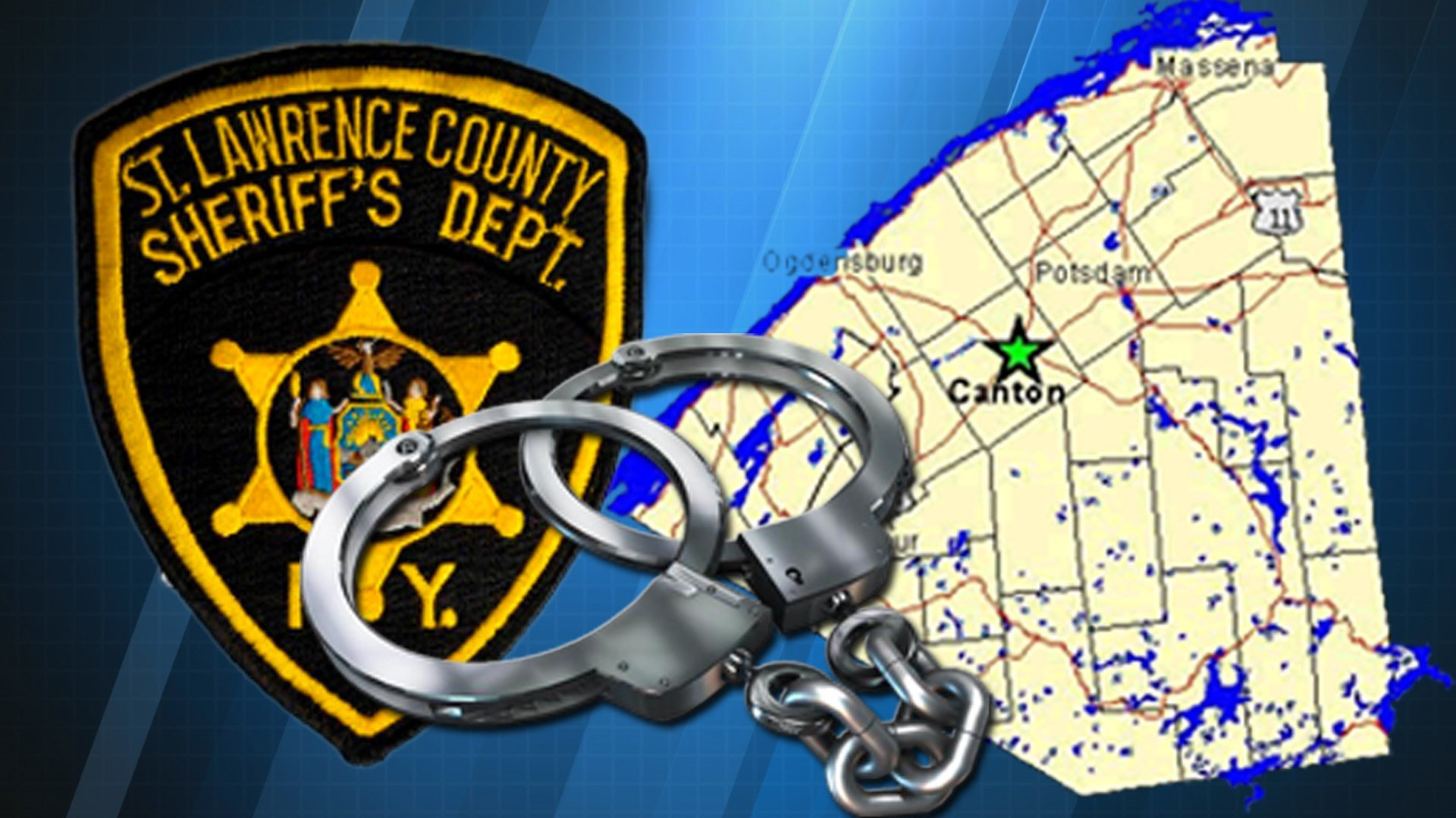 St Lawrence County sheriff handcuffs arrest Caption