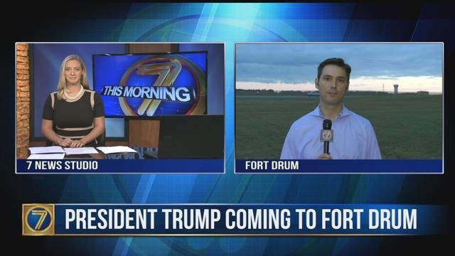 President Trump visits Fort Drum