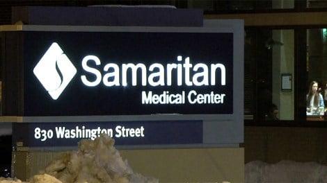 Samaritan sign Caption