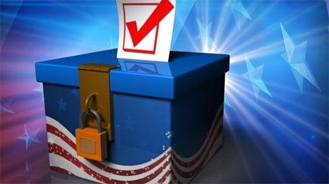 Vote ballot box Caption