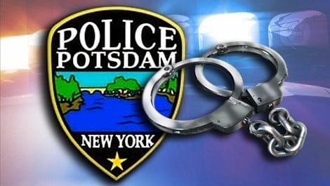 Potsdam police handcuffs arrest Caption