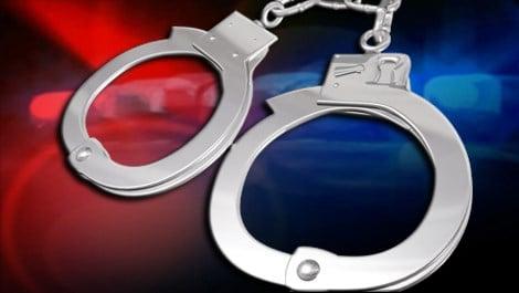 Arrest police lights handcuffs Caption