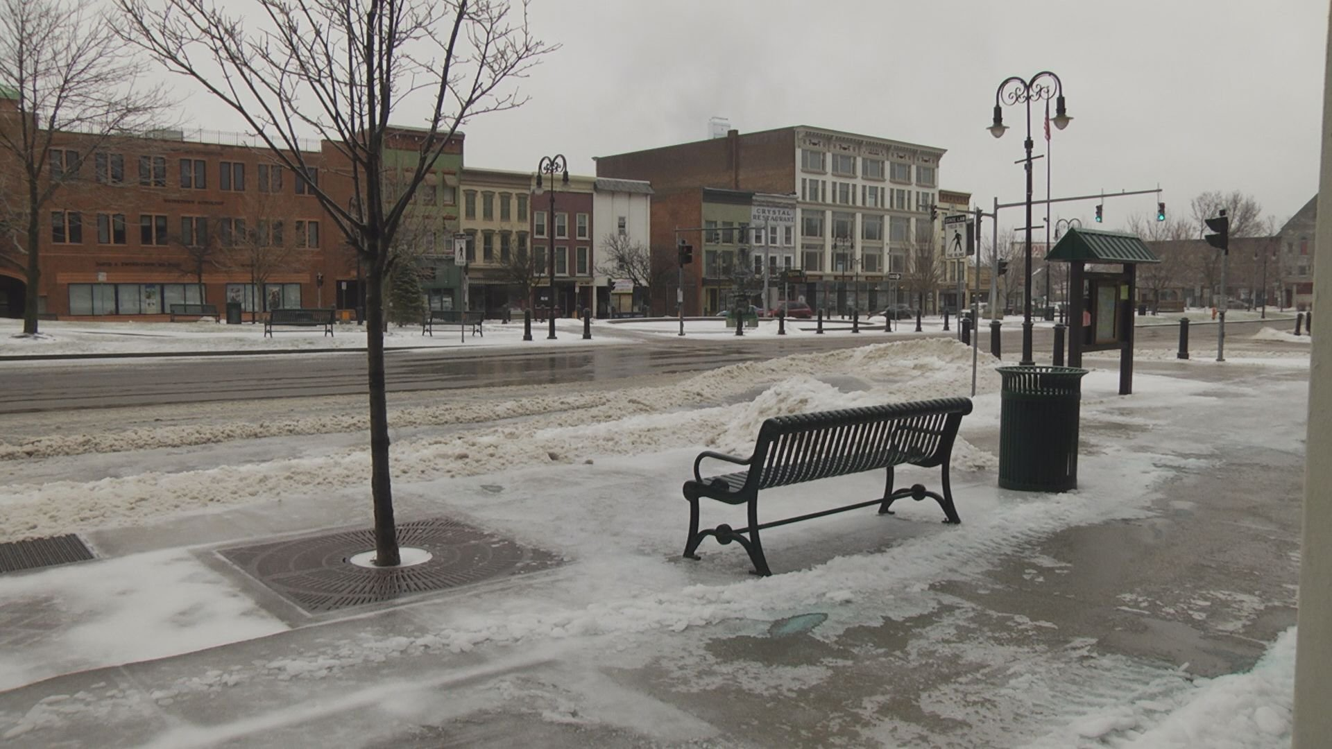 Public Square, Watertown, Sunday morning