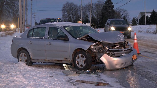 Ice And Wind Made For Tough Driving Conditions Wednesday In St Lawrence County Where A Car Rear Ended An Amish Buggy